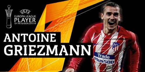 Antoine Griezmann gana premio a mejor jugador de la Europa League