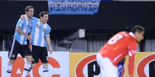 Argentina goleó a Chile en las Eliminatorias a Brasil 2014