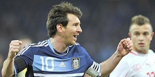 Argentina venció a Suiza en partido amistoso