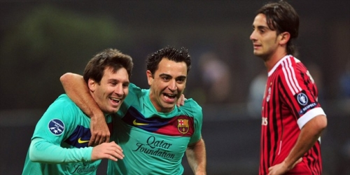 Barcelona derrotó a Milan y Valencia goleó en la Champions