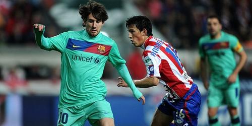 Barcelona empató con el Sporting Gijón y terminó su racha