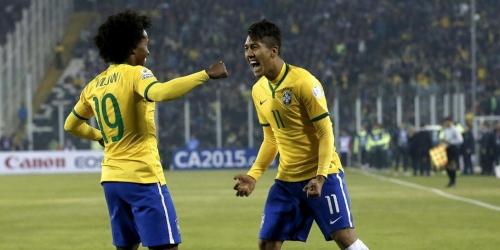 Brasil eliminó a Venezuela y es primero del grupo (2-1)