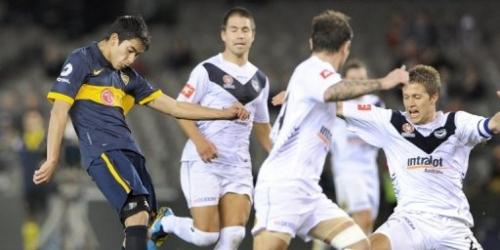 Canete da triunfo a Boca Juniors ante Melbourne Victory