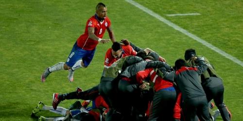 Chile derrotó a Uruguay y está en semifinales (1-0)
