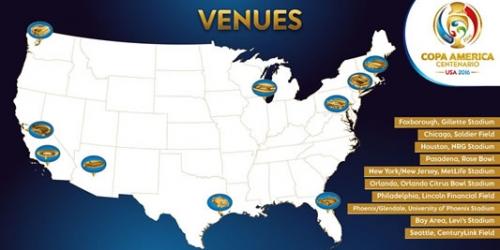 Copa América 2016, estas serán las sedes del torneo