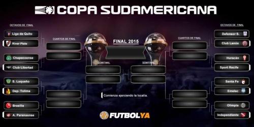 Copa Sudamericana, programación de los Octavos de Final