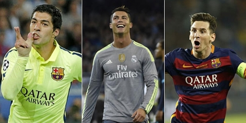CR7, Messi y Suárez finalistas en premio UEFA