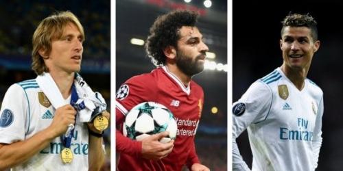 Cristiano Ronaldo, Modric y Salah los nominados para Jugador del Año