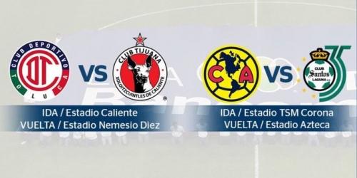 Definidas las semifinales de la Liga MX