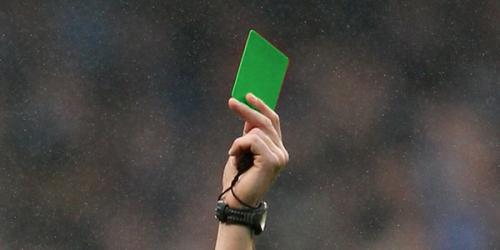 Hoy debuta la 'tarjeta verde' en el fútbol