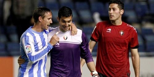 El Osasuna y el Málaga mantienen Europa a tiro