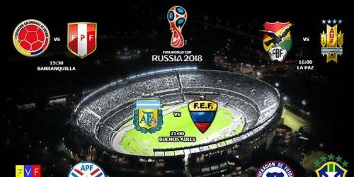 Eliminatorias, programación completa de la 1a jornada