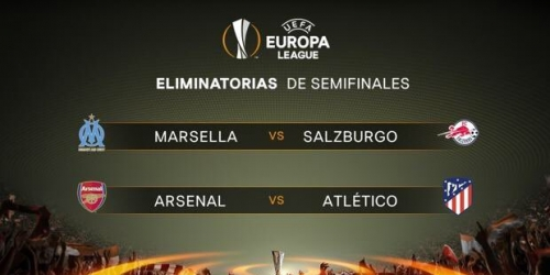 Estas son las llaves de semifinales en la Europa League