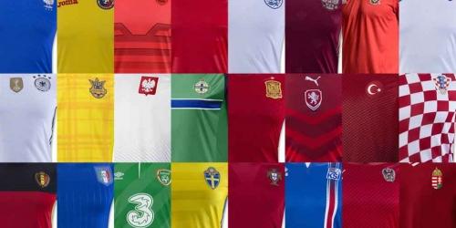 Eurocopa, todas las camisetas de los 24 equipos participantes