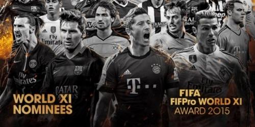 FIFPro 2015, estos son todos los 55 nominados