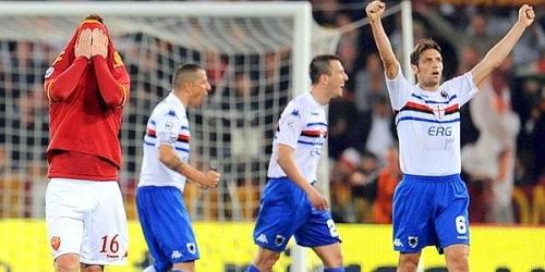 La Roma no pudo con Sampdoria y cedió el primer lugar