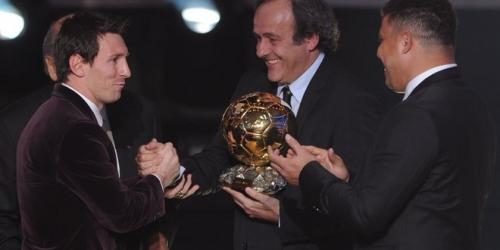 Lionel Messi se llevó el Balón de Oro por tercera vez