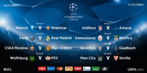 LIVE: Sigue en vivo la 3a jornada de la Champions League