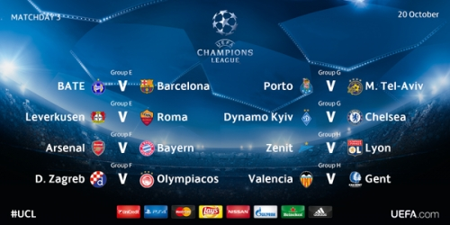 LIVE: Sigue la 3a jornada de la Champions League
