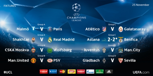LIVE: Sigue la 5a jornada de la Champions League
