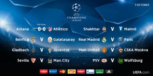 LIVE: Sigue toda la 4a jornada de la Champions League