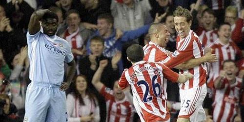 Manchester City igualó con Stoke City en la Premier League