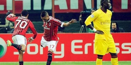 Milan goleó a Arsenal en la Champions League