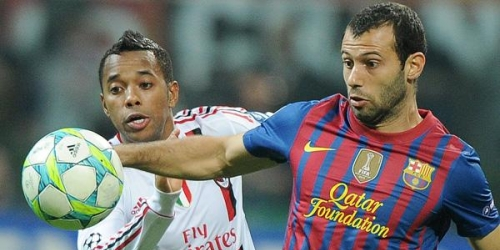 Milan y Barcelona empataron en los cuartos de final