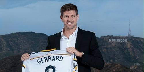 MLS, Steven Gerrard posa con su nueva camiseta