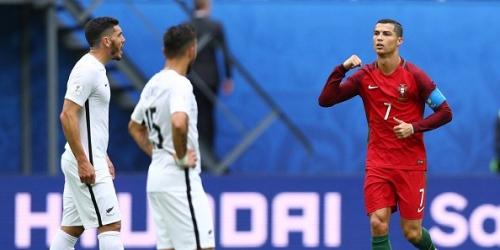 (VIDEO) Portugal goleó a Nueva Zelanda y terminó como líder del Grupo A