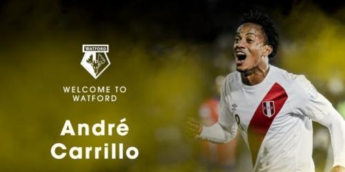 (OFICIAL) André Carrillo pasa la revisión médica con el Watford