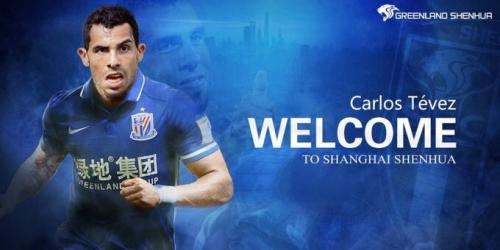 (OFICIAL) China, Tévez firmó con el Shanghai Shenhua y es el más pagado del mundo