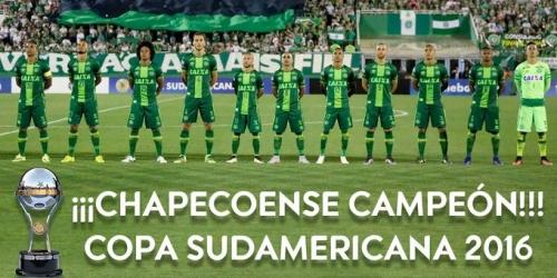 (OFICIAL) Copa Sudamericana, el Chapecoense fue declarado como campeón del torneo