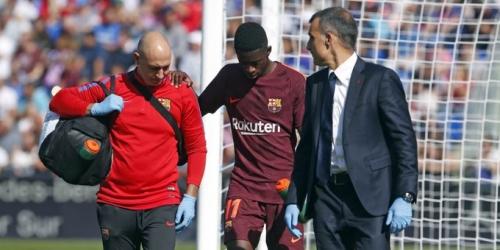 (OFICIAL) Dembélé será baja de 3 a 4 meses en el FC Barcelona