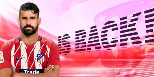 """(OFICIAL) Diego Costa viste la """"rojiblanco"""""""