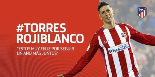 """(OFICIAL) """"El niño"""" Torres seguirá siendo colchonero la siguiente temporada"""