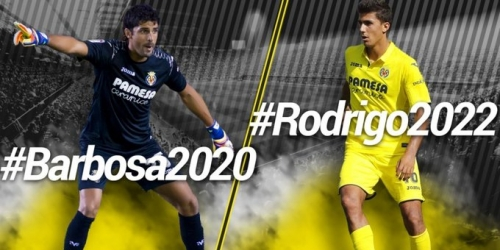 (OFICIAL) El portero Barbosa y el mediocampista Rodrigo renuevan con el Villarreal