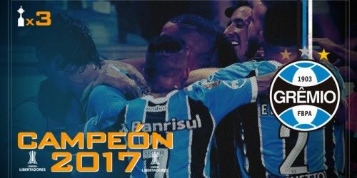 (OFICIAL) Gremio Campeón de la Copa Libertadores 2017