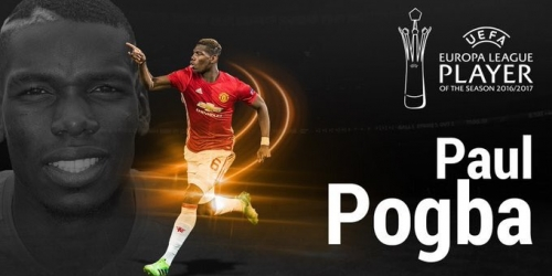 (OFICIAL) Paul Pogba elegido como mejor jugador de la UEFA Europa League 16/17