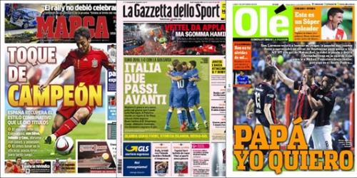 Portadas: Euro 2016, amistosos y San Lorenzo en los titulares
