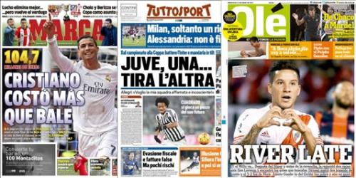 Portadas, los titulares del 27 de enero de 2016