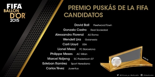 Premio Puskas, estos son los 10 finalistas (VIDEO)