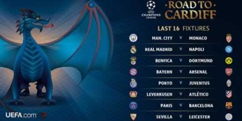 (PREVIA) Champions League, programación completa de los Octavos de Final