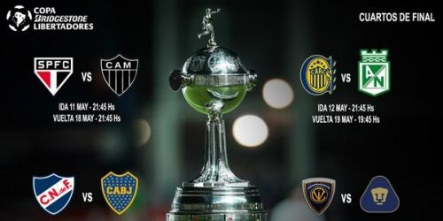 (PREVIA) Copa Libertadores, programación completa de los Cuartos de Final