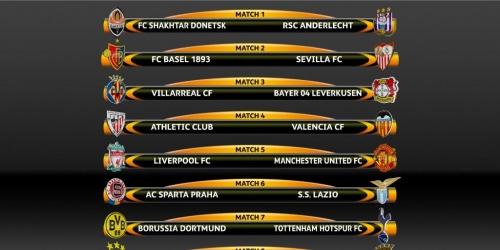 (PREVIA) Europa League, programación completa de los Octavos de Final