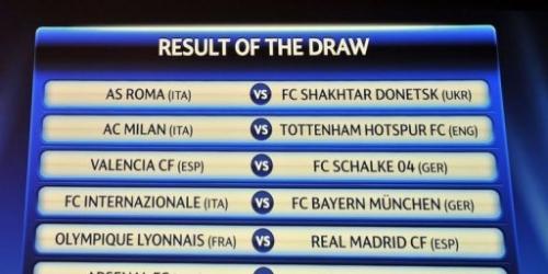 Se sortearon los octavos de final de Champions League
