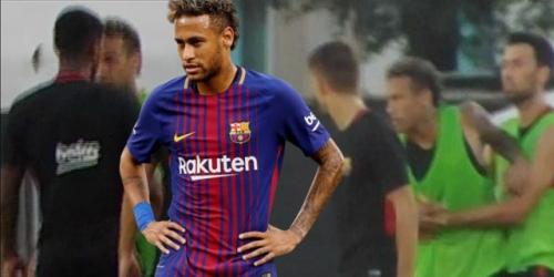 Tensión en el Barça tras pelea entre Neymar y Semedo
