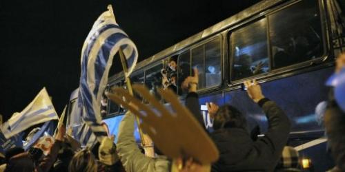Uruguay llega a Montevideo donde fue recibida por muchos