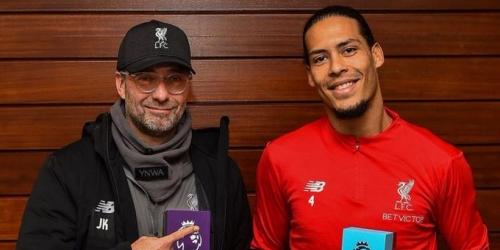 Van Dijk y Klopp, los mejores de la Premier League del mes de diciembre