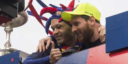(VIDEO) Así celebra el FC Barcelona su doblete en Catalunya
